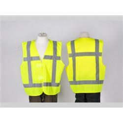 Veiligheidsvest geel met opdruk BHV XXL
