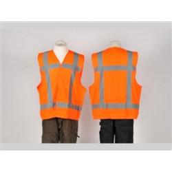 Veiligheidsvest oranje met opdruk BHV XXL