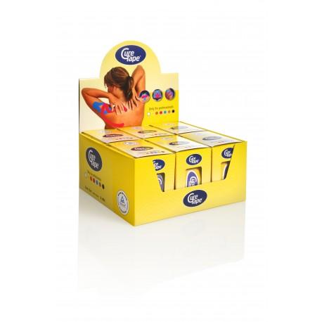 Curetape geel water-resistant 5m-5 cm 6 stuks