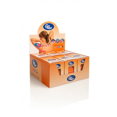 Curetape oranje water-resistant 5m-5 cm 6 stuks