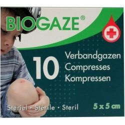 Biogaze 5 x 5 cm 10 stuks