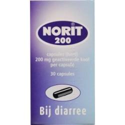 Norit capsules 200 mg 30 stuks