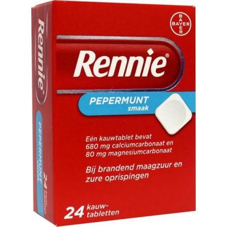 Rennie kauwtablet 24 stuks
