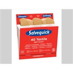 Salvequick refill textiel pleisters no. 6444 1x40 stuks