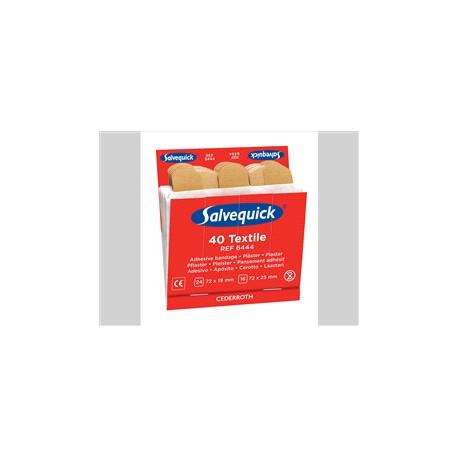 Salvequick no. 6444 refill textiel pleisters 6x40 st