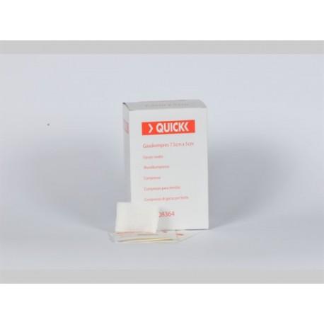 Quick gaascompres steriel 5 x 7,5 cm 100 stuks