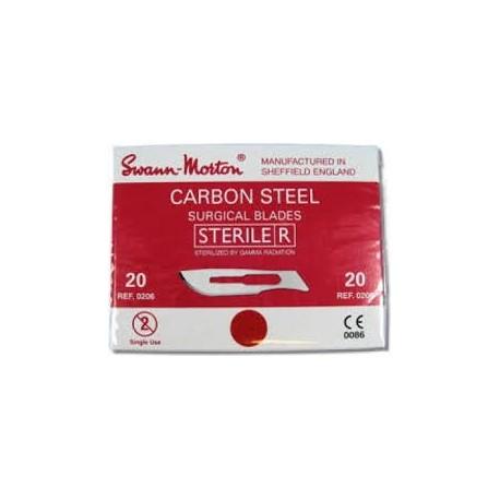Swann Morton Scalpelmesjes  steriel 100 stuks no. 20