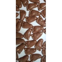Chocolade voetjes