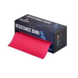 Match U oefenband 5,5 mtr x 14 cm Licht (Rood)